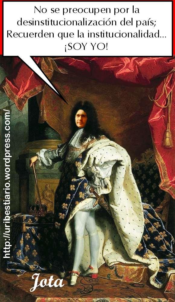 Paraco a lo Luis XIV