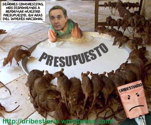 Uribe y el congreso en acción