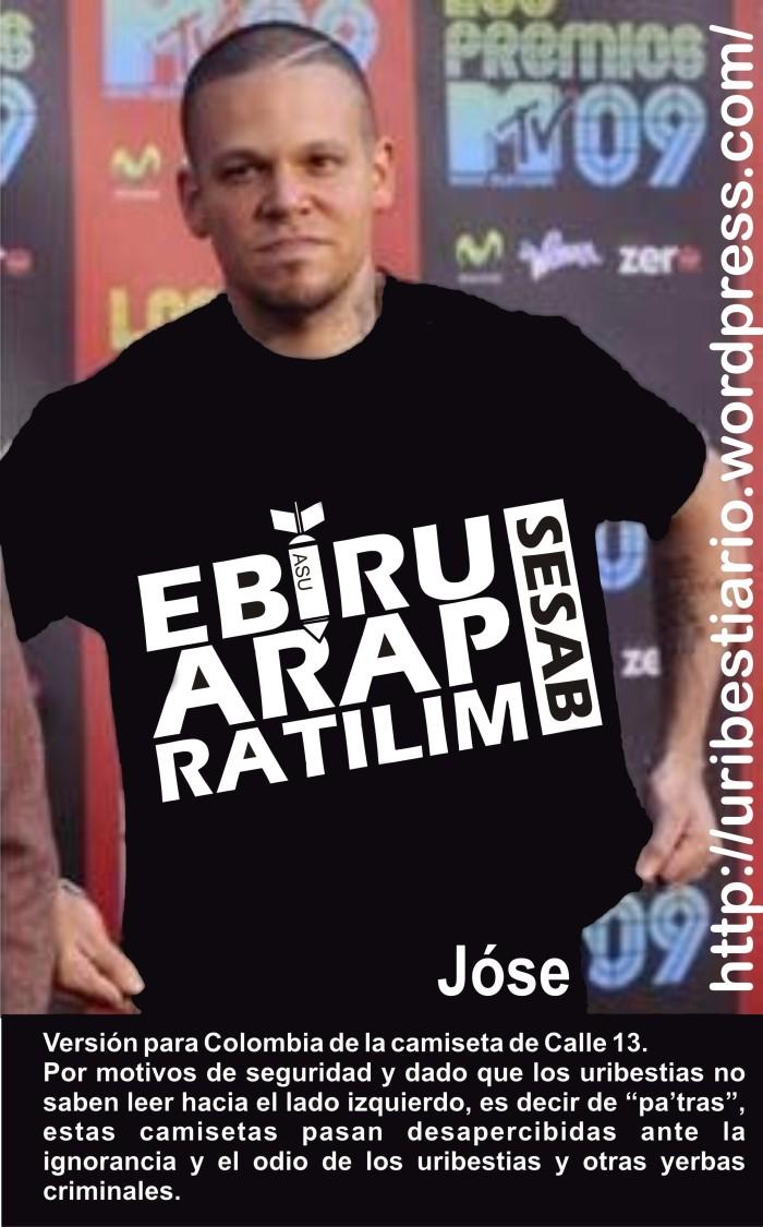 camisetas calle 13 version para Colombia