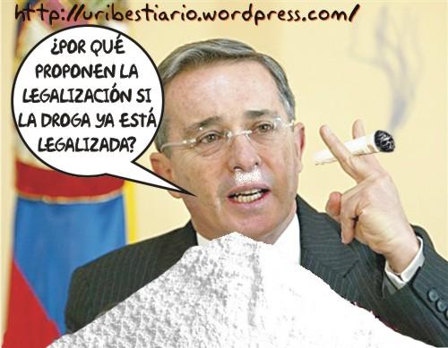 Según Uribe la droga es legal